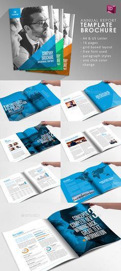 Company Brochure Template InDesign INDD. Download here: http://graphicriver.net/item/company-brochure-adobe-indesign-template/15610874?ref=ksioks