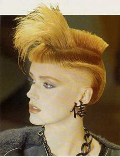 Avant-garde 80s hairstyle