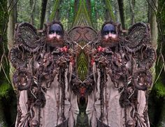 2011, Double Green Man-Blue Bird    http://mandygreer.wordpress.com/