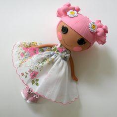 Vintage Handkerchief Wildflower Dress for Lala Loopsy Doll