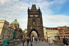 #Gothic Old Town guard tower anchors one end of the Charles Bridge in #Prague, Czech Republic.  Find hotels and resort listings for this city at: http://www.planningatripto.com/list-page/?city=prague