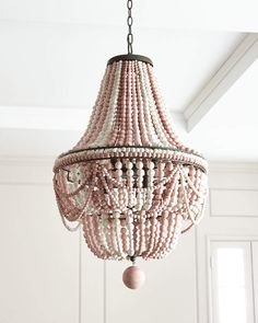 Lighting - Shop Malibu Beaded Chandelier from Regina Andrew Design at Horchow is a handcrafted light created with steel and birch. Luxury Chandelier, Wood Chandelier, Beaded Chandelier, Luxury Lighting, Empire Chandelier, Pendant Lamps, Modern Chandelier, Pendant Lighting, Modern House Design