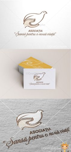Logo Chance for a new life Brand Design, Logo Design, Graphic Design, Brand Identity, Branding, Creative Portfolio, New Life, Pigeon, Logo Inspiration