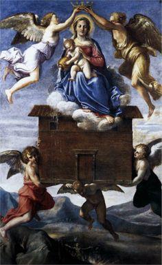 Annibale Carracci. Traslado de la Santa Casa, 1605. Óleo sobre lienzo. Iglesia de Sant'Onofrio.  WikiPaintings.org