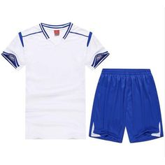 Unisex Soccer Jerseys White & Blue (Sizes S-XXXL)