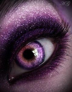 Purple is my favorite color looking in in 2019 макияж, глаза, пурпурный. Beautiful Eyes Color, Pretty Eyes, Cool Eyes, Purple Love, All Things Purple, Shades Of Purple, Aesthetic Eyes, Purple Aesthetic, Purple Contacts