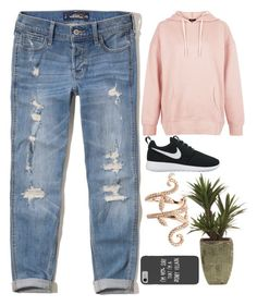 """""""Untitled #273"""" by rubydo2 ❤ liked on Polyvore featuring Hollister Co., New Look, NIKE, Elise Dray and Disney"""