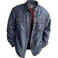 Duluth denim shirt jacket.