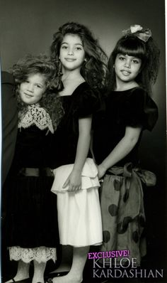 when they were young!.... Kim gets on my nerves but cute picture.