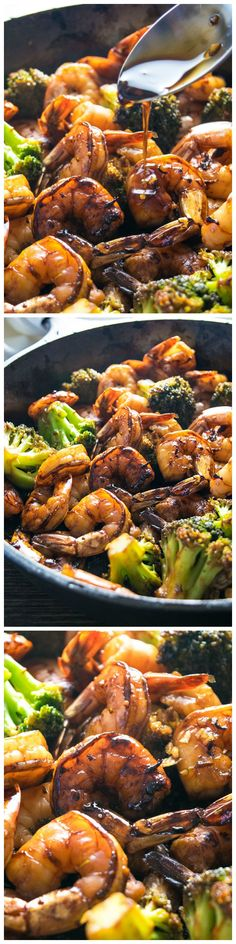Browned honey garlic shrimp with tender broccoli – a super easy dinner that packs a wallop of flavor with simple, common ingredients.
