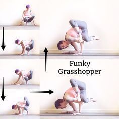 """512 Likes, 80 Comments - Laura Large (@omniyogagirl) on Instagram: """"✨ Funky Grasshopper Tutorial ✨ #omniyogagirltips . Warm up with twists & hip openers before you get…"""""""