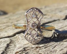 Vintage Antique .14ct Old Mine Cut & Rose Cut by DiamondAddiction
