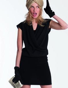 Robe noire dentelle leclerc