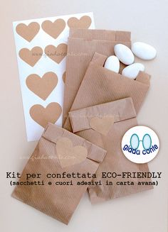 SACCHETTI PER CONFETTATA 'Eco-Friendly' in di giadacontewedding