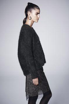 Scanlan Theodore Super Angora Sweater & Tinsel Tulle Skirt