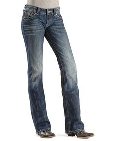 Miss Me Jeans #Miss_Me_Jeans #fashion #blue_jeans #love Miss Me Jeans - Embellished Embroidered Pocket Jean Boot Cut