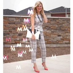 2e076f9edd5  MapleviewMondays take the ever popular peplum style to work with matching  pants! It s the