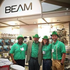 St Patrick 's Day smiles  the staff at Beam Booth #nationalhomeshow