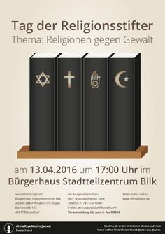RELIGIONEN GEGEN GEWALT!