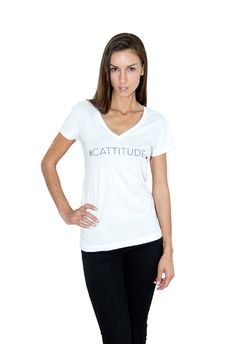 #Cattitude Fashion T Shirt get it in GREY