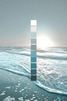New Bath Room Colors Palette Beach Houses Ideas Colour Pallette, Colour Schemes, Ocean Color Palette, Beach Color Schemes, Beach Color Palettes, Ocean Colors, Color Tones, Paint Schemes, Blue Tones