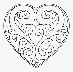 Scroll saw patterns 158751955602291757 Kirigami, Colouring Pages, Coloring Books, Scroll Saw Patterns Free, Heart Template, Wood Burning Patterns, Stencil Designs, Free Motion Quilting, Pyrography