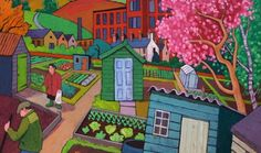 Allotment painting by Chris Cyprus