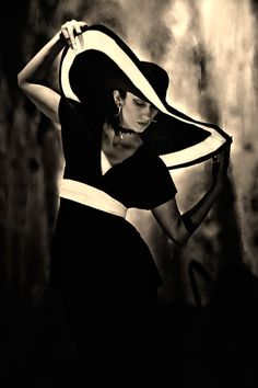21st century image made by Stephen Thorne of a model known as Miss Lady Jinx - perhaps as a tribute to 1930s Coco Chanel or 1970s Halston