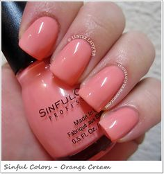 Sinful Colors Sugar Rush (Spring 2013 Collection)-Orange Cream