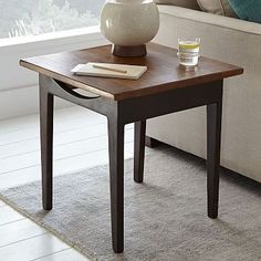 """Lars Mid-Century Side Table – Square 22""""sq. x 22""""h."""
