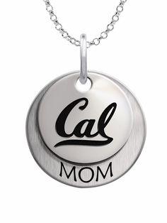 California Berkeley Golden Bears Sterling Silver MOM Necklace High Quality California Berkeley Jewelry #california #berkeley #jewelry #collegejewelry #mom #necklace #sterling #silver