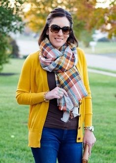 Fall Outfit: Blanket Scarf and Statement Ring