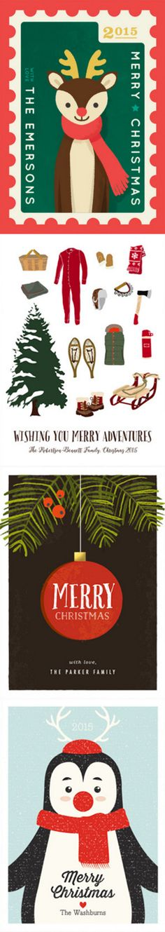 Find the perfect vintage inspired holiday greeting card for your family and friends at Minted.com