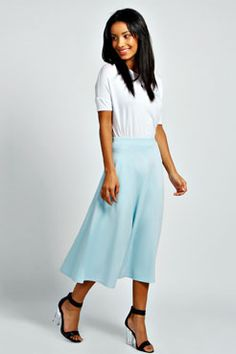 Arianna Full Circle Midi Skirt at boohoo.com