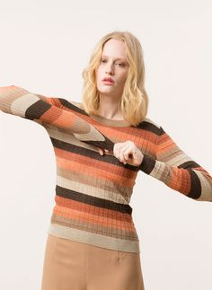 Uterqüe United Kingdom Product Page - Ready to wear - Jumpers and cardigans - Metallic sweater - 70