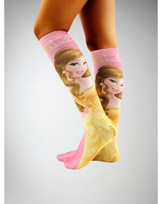Party points to ME! I just found the Belle Sublimation Knee High Socks from Spencer's. Visit their mobile website to get this item and more like it.