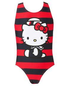 Hello Kitty Kids Swimwear, Little Girls Nautical Printed One-Piece Swimsuit - Kids Swimwear - Macys