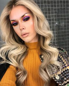 Get the London look. Swipe right to see my eye process for this sunset halo eye! Messy Hairstyles, Wedding Hairstyles, School Hairstyles, Drag Queen Makeup, Drag Makeup, Beauty Makeup, Blair St Clair, Drag Queen Outfits, London Look