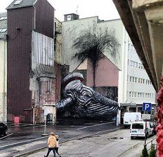Nuevo mural de ROA en Noruega