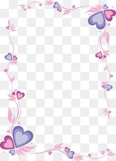 Marco de color rosa en forma de corazon, Frame, Pink, Lace PNG y Vector