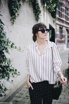 POLIENNE | wearing a H&M shirt, VILA trousers, ALDO loafers, COACH bag & KOMONO sunglasses