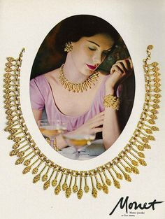 A 1950s jewelry masterpiece from Money. {the idea of having a piece of jewelry acting as the frame]