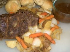 3 Packet Pot Roast I made this yesterday and it isnt the regular 3 pk recipe so give it a look. It was really good. The peppercorn garlic packet makes a wonderful gravy. I thicken my gravy with flour not cornstarch and I dont usually add the veggies opting for a hot beef sandwich with potatoes and gravy. I found this AMAZING AND EASY