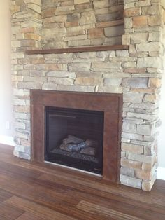 "2014 End of Summer Photo Contest Entry - Shaun ""Fireplace Surround and Mantle Acid Stain Coffee Brown and Cola"""
