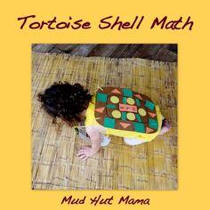 Preschool Math on a Tortoise Shell - Mud Hut Mama LOVE IT! Art with number matching and pattern skills