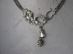 Lyrical  Repurposed paste crystal and rhinestone by OhMyGypsySoul, $56.00