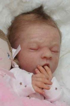 Reborn Baby Doll Rebornbaby Girl single-rooted hair Maya by Olga Auer | eBay