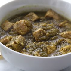 This authentic pork chile verde recipe will rival any you find in a Mexican restaurant! Tender pieces of pork slow cooked with a fantastic homemade green chile sauce (salsa verde). Serve this delicious stew alongside warm tortillas, rice and beans. Authentic Mexican Recipes, Mexican Pork Recipes, Green Chili Recipes, Mexican Cooking, Mexican Dishes, Authentic Chile Verde Recipe, Recipes With Pork Stew Meat, Mexican Food Recipes, Amazing