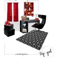 """Workspace BW"" by galoeh11 on Polyvore"
