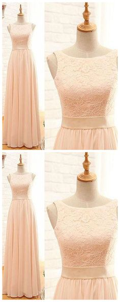 Pink lace chiffon long prom dress, pink evening dress, Sexy Prom Dresses, Long Evening Dress P0813  #promdresses #longpromdress #2018promdresses #fashionpromdresses #charmingpromdresses #2018newstyles #fashions #styles #hiprom #prom #GraduationDress #2018 #tulle #PartyDress #pinkprom